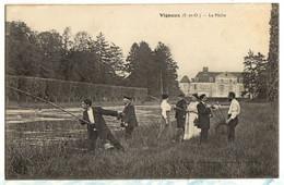 1915 VIGNEUX : Une Partie De PECHE Animée - Vigneux Sur Seine