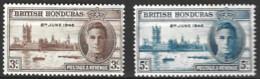 British  Honduras  1946  SG  162-3  Victory   Unmounted Mint - British Honduras (...-1970)