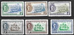 British  Honduras  1949  SG  166-71  St Georges Cay   Mounted Mint - British Honduras (...-1970)