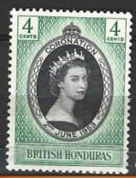 British  Honduras  1953  SG  178  Coronation   Unmounted Mint - British Honduras (...-1970)