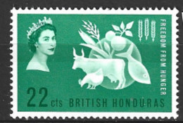 British  Honduras  1963  SG  214  F F H   Unmounted Mint - British Honduras (...-1970)