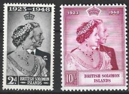 British Solomon Islands   1949  SG 75-6  Silver Weding   Unmounted Mint - British Solomon Islands (...-1978)
