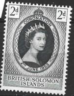 British Solomon Islands   1953  SG 81  Coronation  Unmounted Mint - British Solomon Islands (...-1978)
