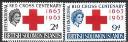 British Solomon Islands   1963  SG 101-2  Red Cross   Unmounted Mint - British Solomon Islands (...-1978)