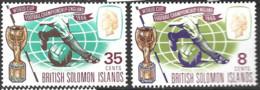 British Solomon Islands   1966  SG 153-4  World Cup    Unmounted Mint - British Solomon Islands (...-1978)