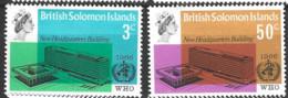 British Solomon Islands   1966  SG 155-6  W H O    Unmounted Mint - British Solomon Islands (...-1978)