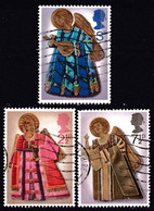 ! GREAT BRITAIN - Christmas '72, Angels / Complete Set Of 3 Used Stamps (k4632) - Collections
