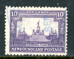 Newfoundland MH 1923-24 War Memorial - Unused Stamps