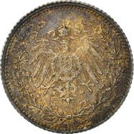 Monnaie, GERMANY - EMPIRE, 1/2 Mark, 1906, Munich, TTB+, Argent, KM:17 - 1/2 Mark