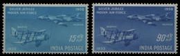 Indien 1958 - Mi-Nr. 284-285 ** - MNH - Flugzeuge / Airplanes - Unused Stamps