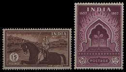 Indien 1957 - Mi-Nr. 273-274 ** - MNH - Sepoy-Aufstand - Unused Stamps