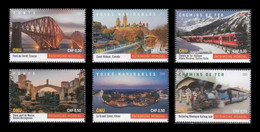 United Nations (Geneva) 2021 Mih. 1142/47 UNESCO World Heritage. Bridges, Waterways And Railways (II) MNH ** - Ungebraucht