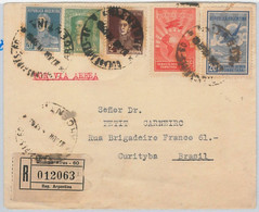 43495 - ARGENTINA - POSTAL HISTORY  -  REGISTERED AIRMAIL COVER To BRAZIL - 1929 - Covers & Documents