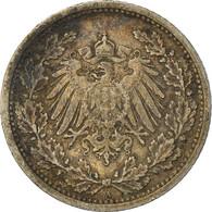 Monnaie, GERMANY - EMPIRE, 1/2 Mark, 1905, Berlin, TTB, Argent, KM:17 - 1/2 Mark