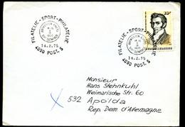 Olympic Games 1920 Special Postmark On Belgium Cover Antwerp To East Germany 1975 - Zomer 1920: Antwerpen