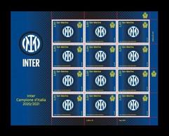 San Marino 2021 Mih. 2865 Inter - Italian Football Champion 2020/21 (M/S) MNH ** - Unused Stamps