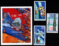 Q012E - DDR - 1978 - SC#: 1898-1901 - MNH - INTERCOSMOS PROGRAM - Europa