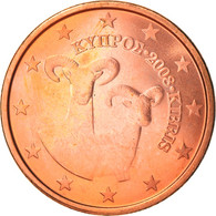 Monnaie, Chypre, 5 Euro Cent, 2008, SUP+, Copper Plated Steel, KM:80 - Chipre
