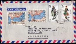 España -1970 - Carta - Via Aerea - Enviada A Argentina - A1RR2 - 1961-70 Storia Postale