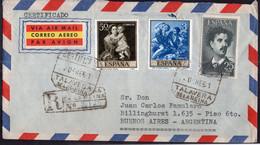 España -1961 - Carta - Via Aerea - Enviada A Argentina - A1RR2 - 1961-70 Storia Postale