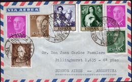 España - 1960 - Carta - Via Aerea - Enviada A Argentina - Francisco Franco - A1RR2 - 1961-70 Storia Postale