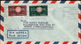 España - 1960 - Carta - Via Aerea - Enviada A Argentina - Europa CEPT - A1RR2 - 1961-70 Storia Postale