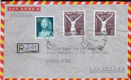 España - Circa 1960 - Carta - Via Aerea - Enviada A Argentina - Cristianismo - A1RR2 - 1961-70 Storia Postale