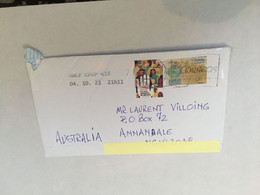 (4 A 28) Spain Cover Posted To Australia During COVID-19 Pandemic - 2 Stamps - - 2011-... Lettere