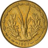 Monnaie, West African States, 5 Francs, 1987, TB+, Aluminum-Nickel-Bronze, KM:2a - Elfenbeinküste