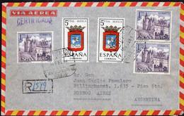 España - 1961 - Carta - Via Aerea - Enviada A Argentina - A1RR2 - 1961-70 Storia Postale