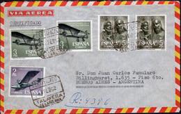 España - 1962 - Carta - Via Aerea - Enviada A Argentina - A1RR2 - 1961-70 Storia Postale