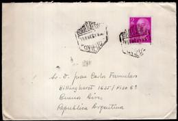 España - 1960 - Carta - Certificada - Enviada A Argentina - Francisco Franco - A1RR2 - 1961-70 Storia Postale