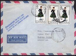 España - 1967 - Carta - Via Aerea - Enviada A Argentina - A1RR2 - 1961-70 Storia Postale