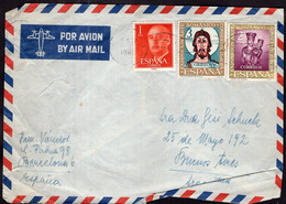 España - 1963 - Carta - Via Aerea - Enviada A Argentina - A1RR2 - 1961-70 Storia Postale