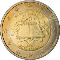 Portugal, 2 Euro, Traité De Rome 50 Ans, 2007, SPL, Bi-Metallic, KM:771 - Portugal
