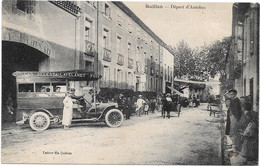11 .  QUILLAN  --  DEPART DE L ' AUTOBUS QUILLAN-BELESTA-LAVELANET - Other Municipalities