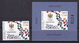 MONTENEGRO 2021,SUMMER OLYMPIC GAMES,TOKYO,SPORT, 1 V+ BLOK,MNH - Estate 2020 : Tokio