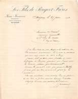 18401  35-1064   1914 LES FILS DE PEUGEOT FRERES A AVIGNON - M. DUREL A SAINT ELOY LES MINES - 1900 – 1949