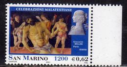 REPUBBLICA DI SAN MARINO 2001 CELEBRAZIONI MALATESTIANE CRISTO IN PIETÀ GIOVANNI BELLINI LIRE 1200 € 0,62 MNH - Nuovi