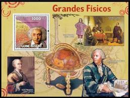 Guinée-Bissau - Les Physicien / De Natuurkundige - Galilée - Albert Einstein - Newton - Leonhard Euler - Fisica