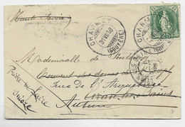 HELVETIA SUISSE 25C VERT SEUL PETITE LETTRE COVER CHARMEY 31 VIII.1898 POUR FRANCE AUTUN REEXP A EVIAN - Briefe U. Dokumente