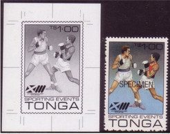 Tonga 1986 World Boxing Championships - Proof + Specimen - Details Below - Pugilato
