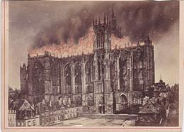 Photo CDV Moselle Metz Incendie De La Cathédrale Ste Etienne 7/5/1877 Photo Collet Frères Metz Réf 10446 - Identified Persons