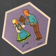 (BD) Autocollant  LA VACHE QUI RIT: TINTIN   (illustr Hergé) (PPP32278) - Stickers