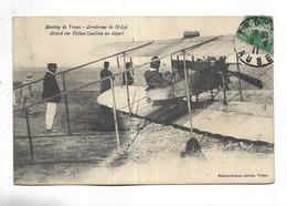 10 - Meeting De Troyes - Aérodrome De St-Lyé. Allard Sur Biplan Caudron Au Départ - Troyes