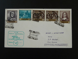 Lettre Premier Vol First Flight Cover Las Palmas Frankfurt Lufthansa Espagne Spain 1963 - 1961-70 Storia Postale