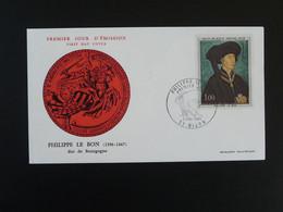 FDC Roi King Philippe Le Bon Duc De Bourgogne Medieval Dijon 21 Cote D'Or 1969 - Altri