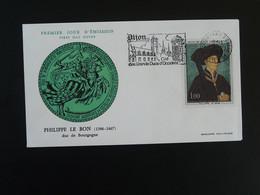 FDC Roi King Philippe Le Bon Duc De Bourgogne Medieval Flamme Dijon 21 Cote D'Or 1969 - Altri