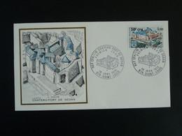 FDC Chateau Fort De Sedan Castle 08 Ardennes Edition Burin D'Or Reunion CFA 1972 - Lettres & Documents