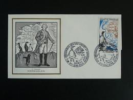 FDC Explorateur Explorer Kerguelen Iles Crozet Kerguelen Edition Burin D'Or Reunion CFA 1972 - Lettres & Documents